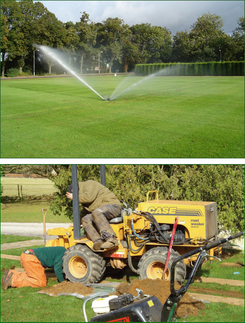 Irrigation Solutions developed for bowling greens