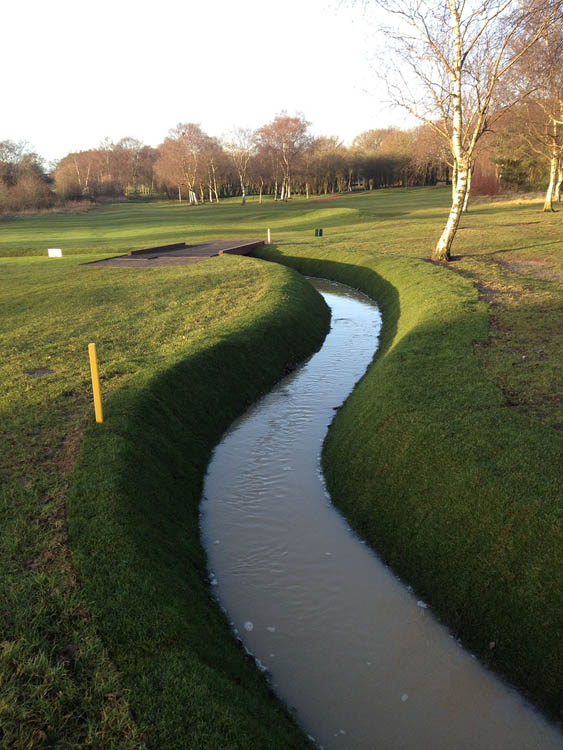 Nuneaton golf course construction of new ditch